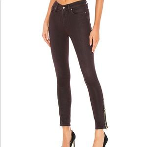 Hudson Barbara High Rise ankle zip jean